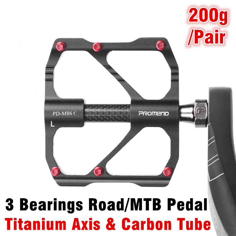 PROMEND MTB Road Mountain Bike Pedal Folding XC Bicycle 3 Bearing X Pedals 230g