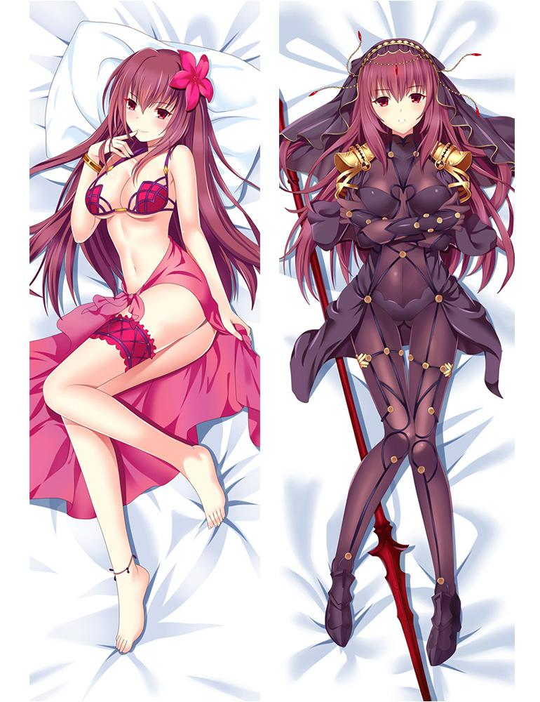 Anime Fate//Grand Order Scathach Otaku Dakimakura Hugging Body Pillow Case Cover