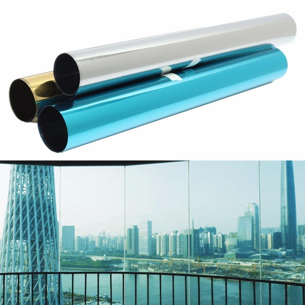 Mirror solar window glass sticker tint film foil anti uv privacy protection home ebay - Pellicola finestre specchio ...