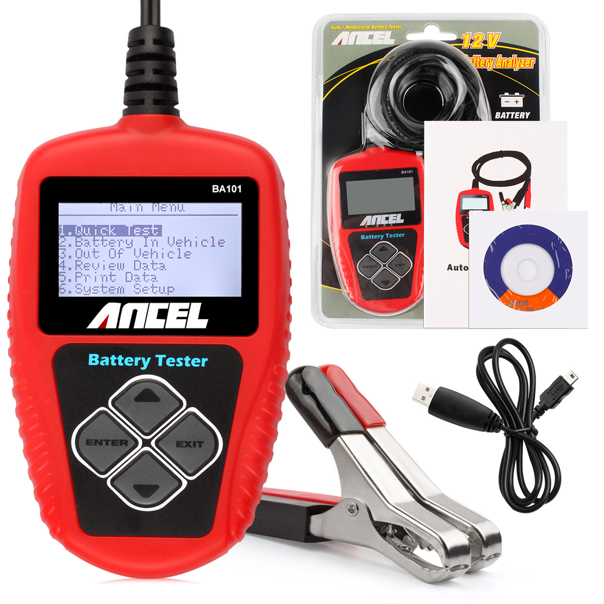 12v Load Cell Circuit Best Electrical Wiring Diagram 6 Wire Ancel Ba101 Auto Car Battery Tester Analyzer 1