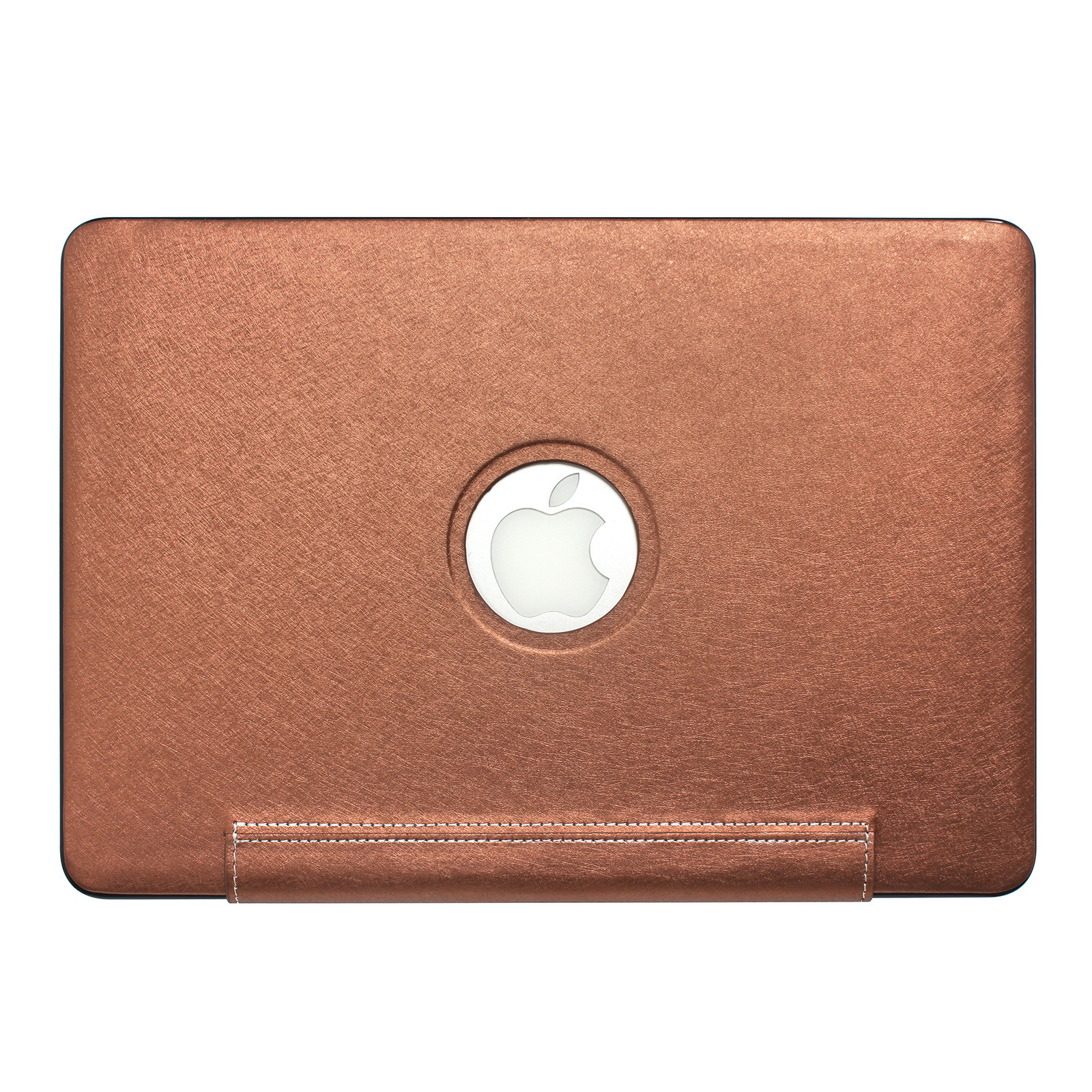 "PU Leather Hard Case Cover Skin Logo Cut-Out For Macbook Air Pro 11/"" 12/"" 13/"" 15/"""