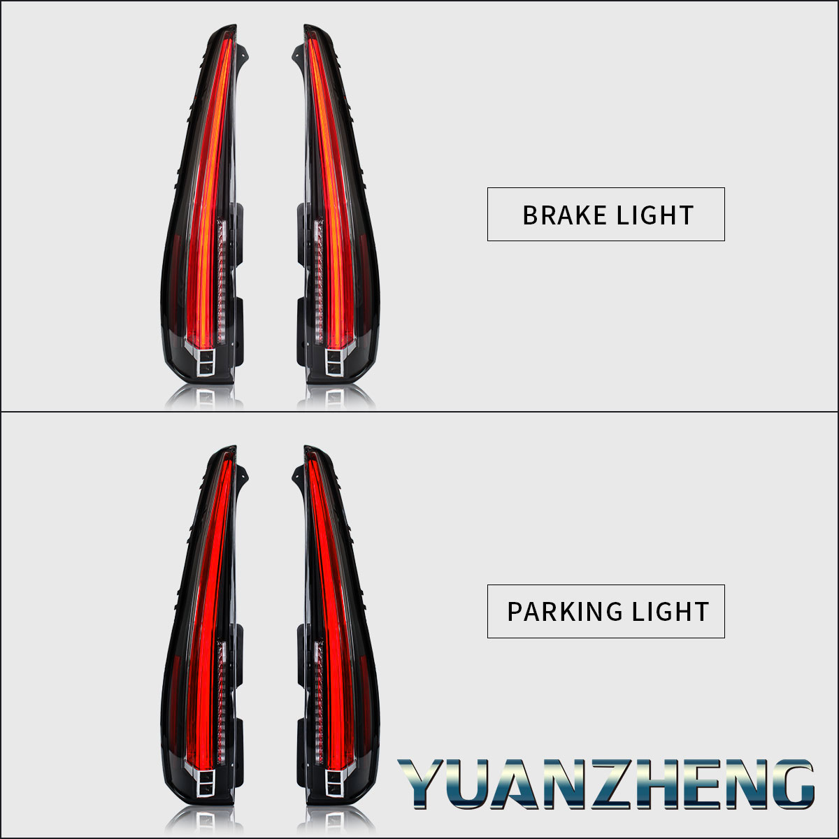 Led Tail Lights For Chevy Tahoe Suburban 2015 2020 Red