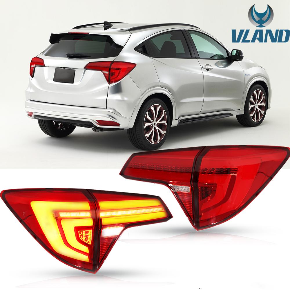 LED Tail Lights For 2015-2016 Honda HR-V Vezel RU SUV Red ...