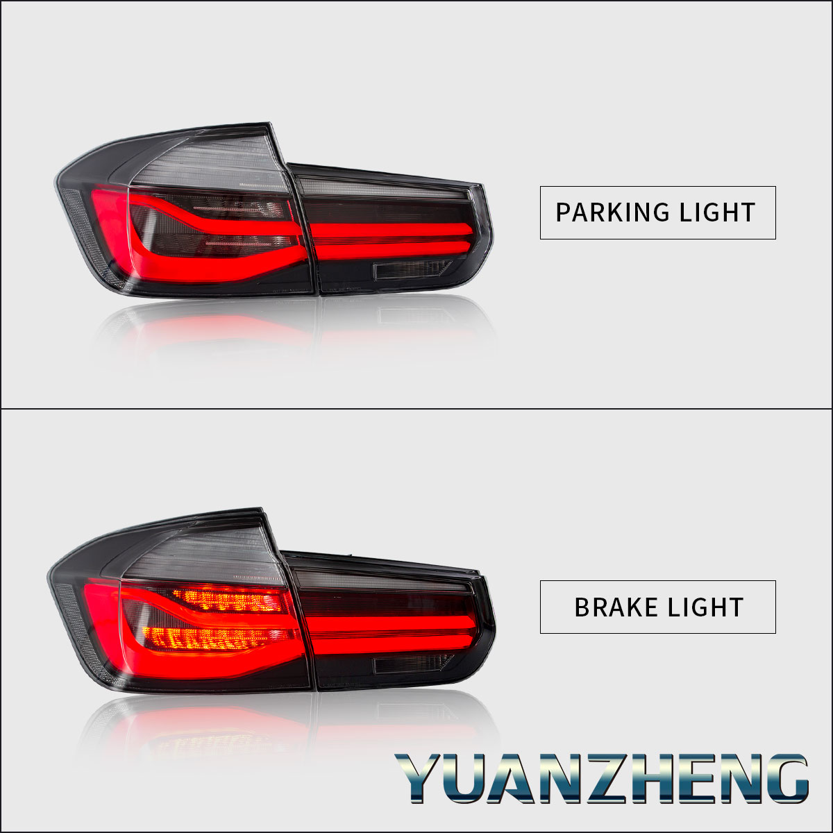 LED Tail Lights For 2012-2018 BMW 3 Series F30 M3 F80 Rear