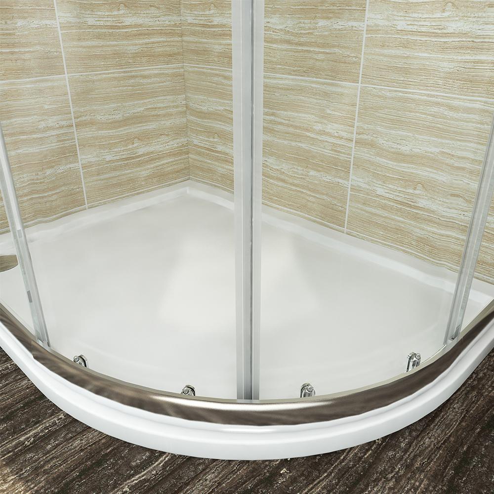 duschkabine viertelkreis 100x100cm duschabtrennung runddusche schiebet r dusche ebay. Black Bedroom Furniture Sets. Home Design Ideas