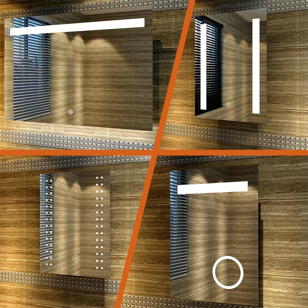 LED BAD SPIEGEL mit Beleuchtung für Badezimmer Badspiegel ...