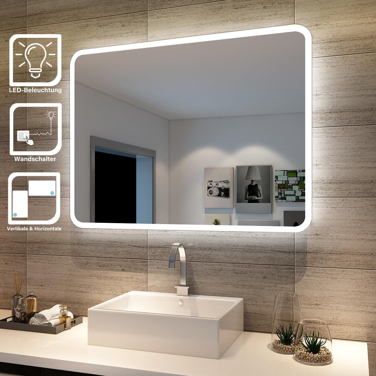 Led Badspiegel Wandspiegel Energiesparender Led Beleuchtung