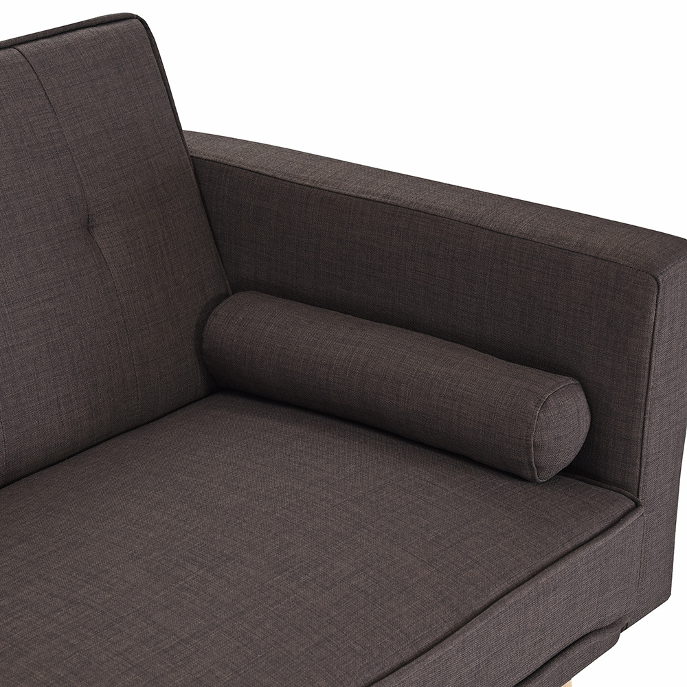 Captivating Sofa Beds Linen Fabric Multifunctional Lazy Sofa 3  Photo