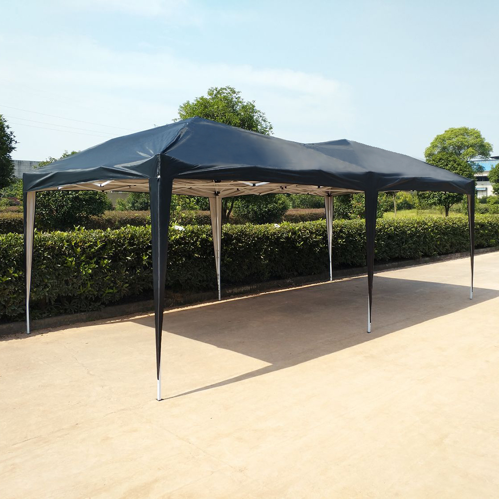 steel outdoors shelter amazon co tepro party barbecue uk awning dp garden gazebo frame bbq
