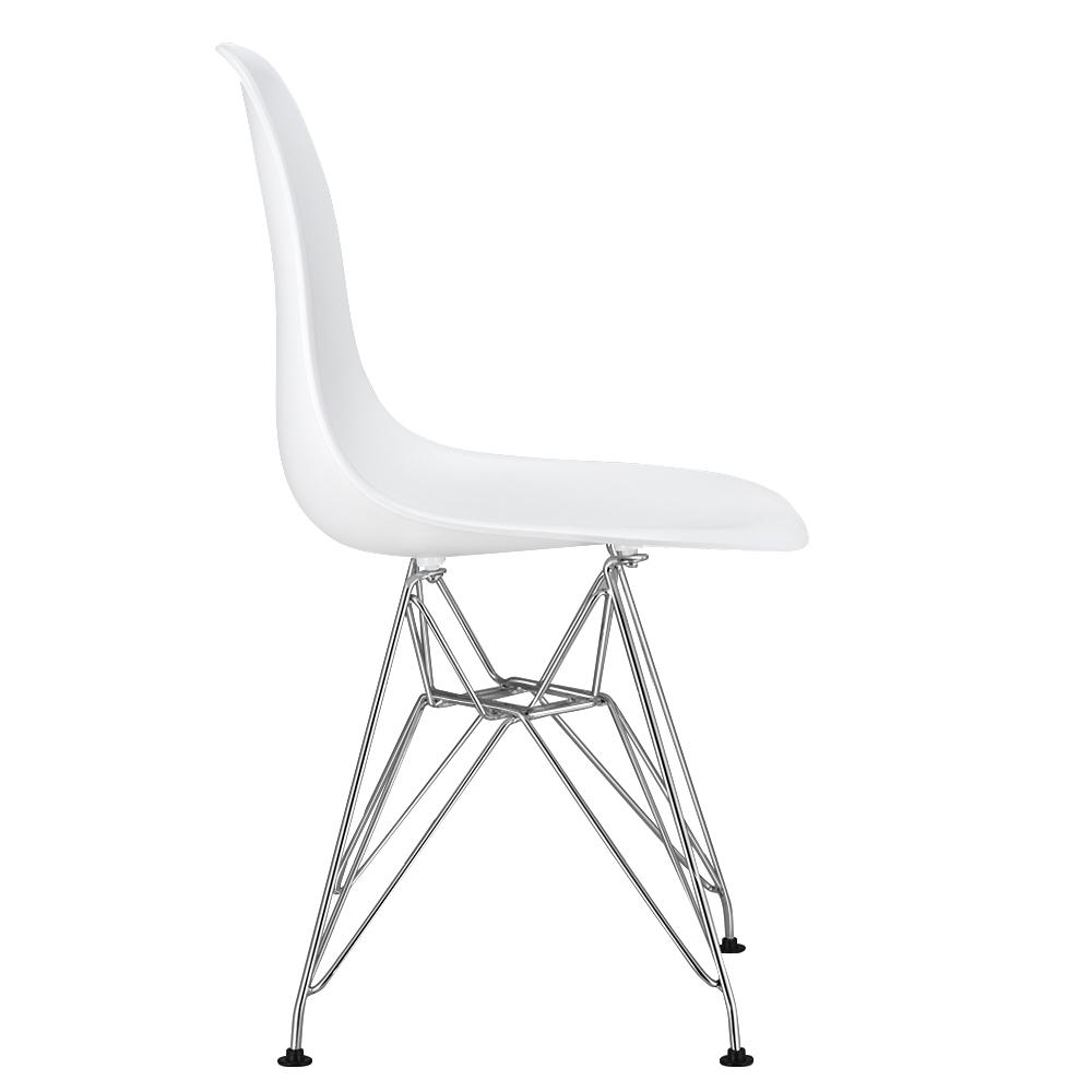 Eiffel Retro White Dining Chair Clear Ghost Chair Plastic Home Office Chair