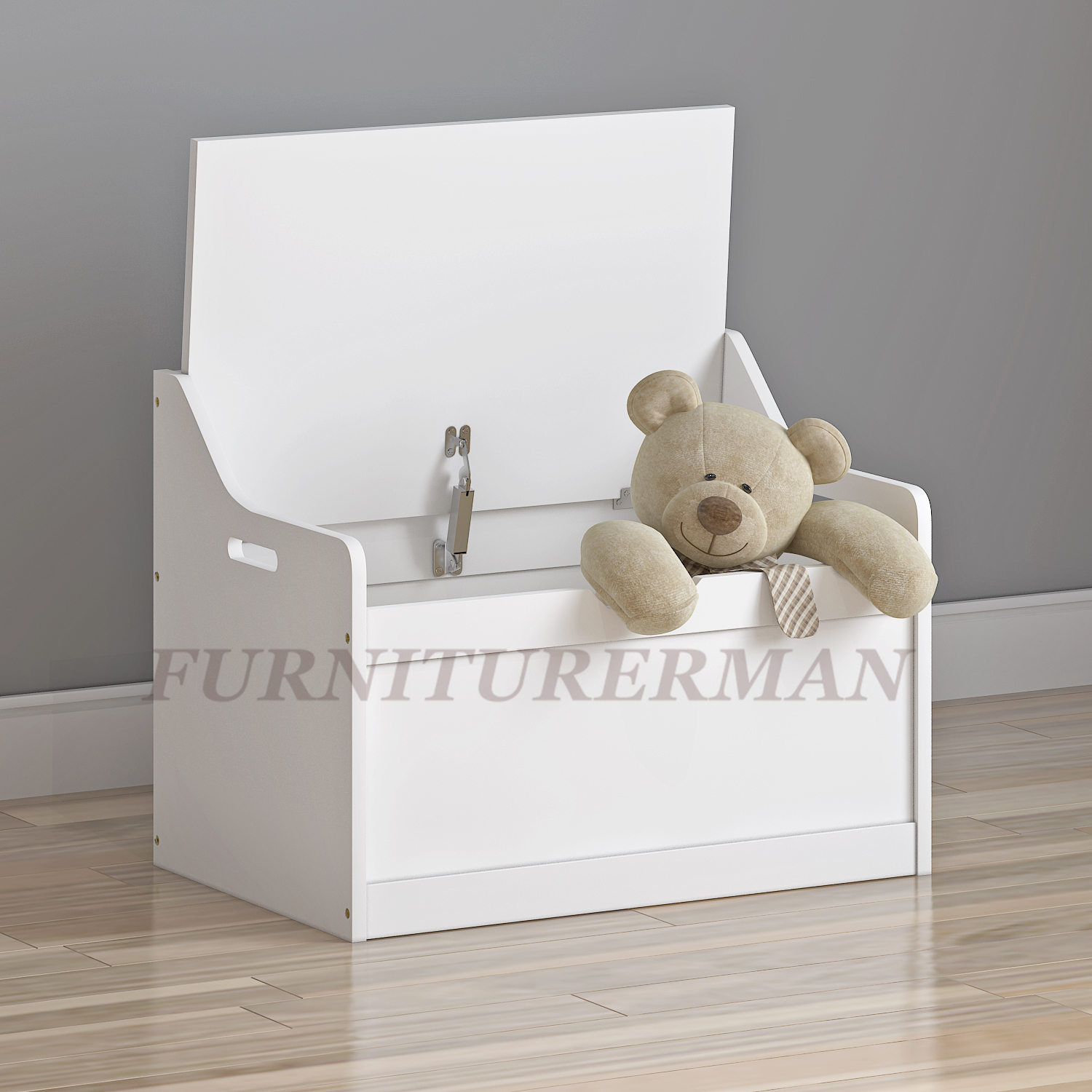 Wooden Storage Box In White Mdf Toy Storage Organiser Unit