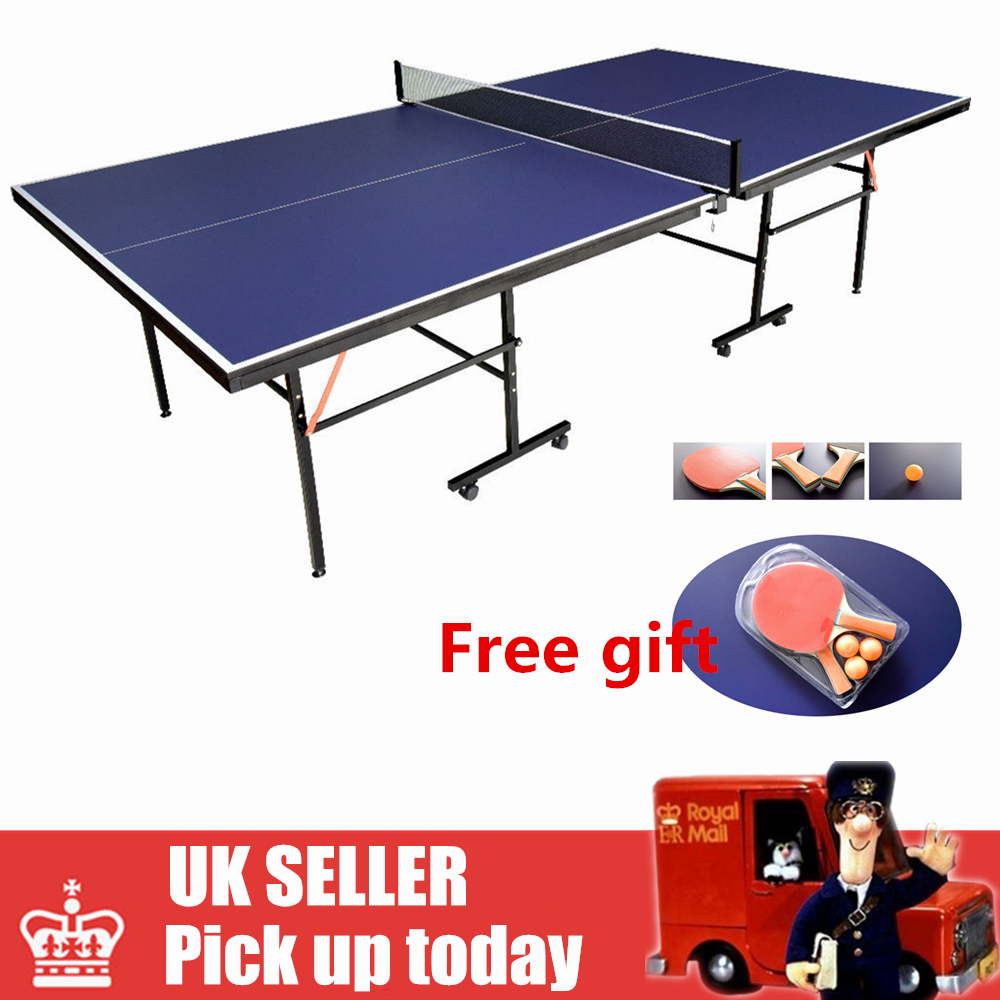 Pro Indoor Outdoor Adjustable Move Fold Table Tennis Ping Pong Table Full  Size