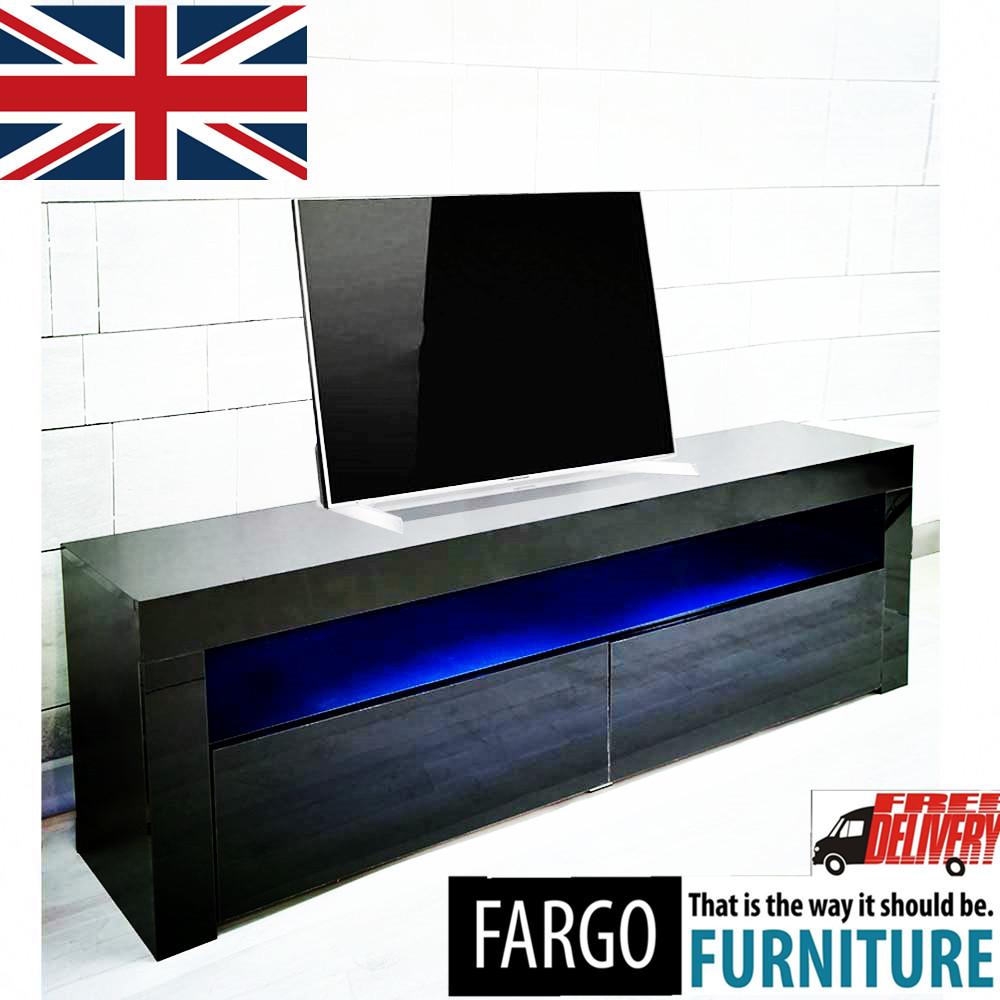 High Gloss LED TV Stand Modern LED Living Room Furniture TV Cabinets ...