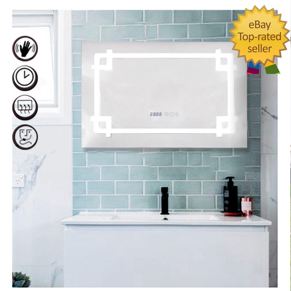 Bathroom Mirror LED Audio Bluetooth Illuminated Light Demister ...