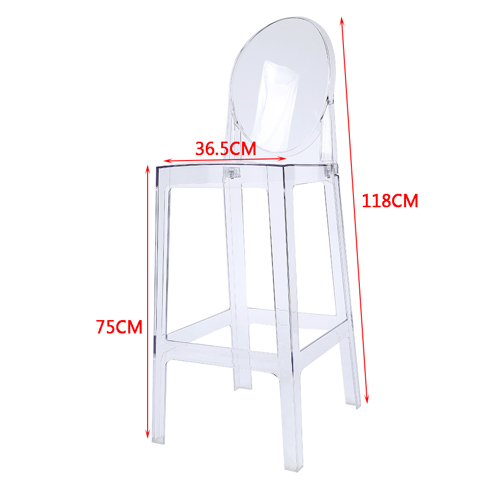 Clear Kitchen Chairs: 1/2/4 Ghost Transparent Clear Chair Dining Restaurant