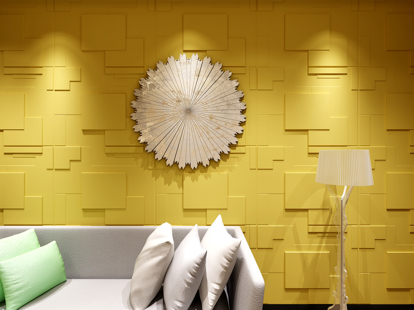 Natural Bamboo 3D Wall Panel Decorative Wall Ceiling Tiles ...