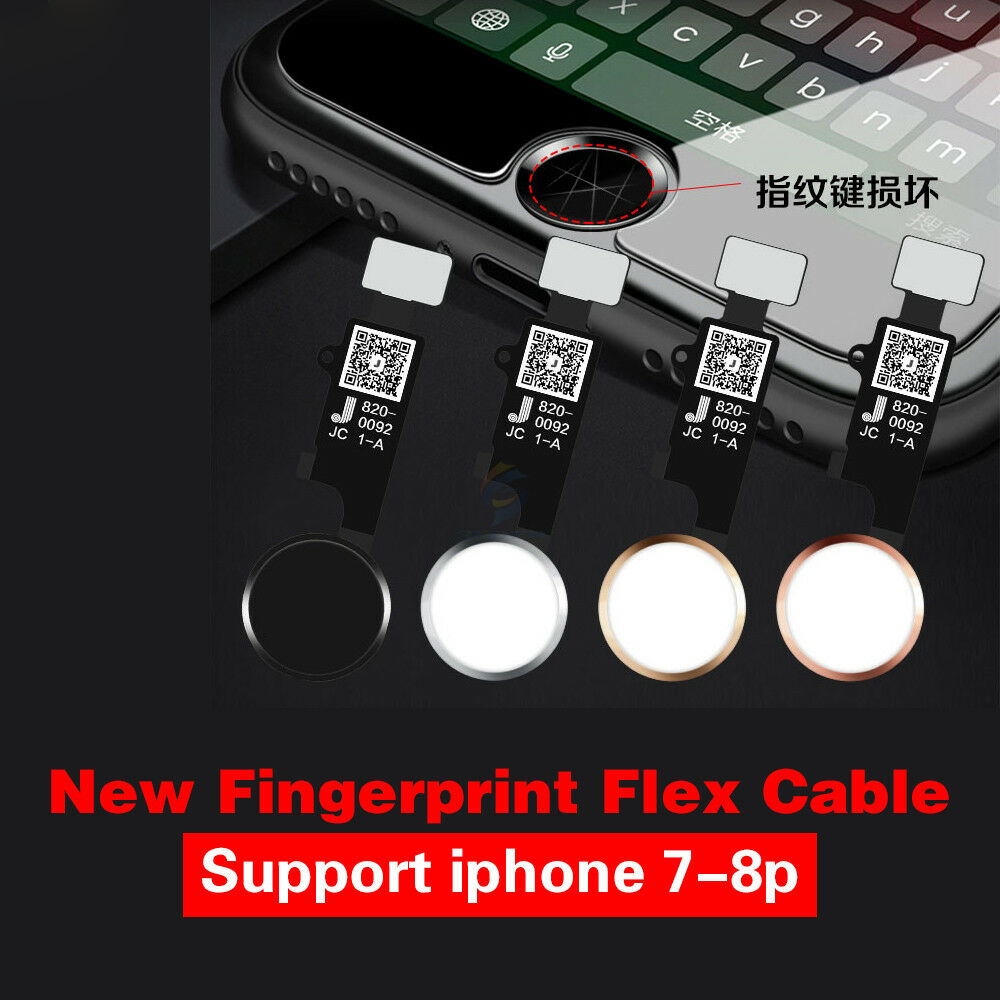Iphone 7 Touch Id Flex Cable Replacement: JC Home Button / Touch Fingerprint ID Sensor Flex Cable Repair for rh:ebay.com,Design