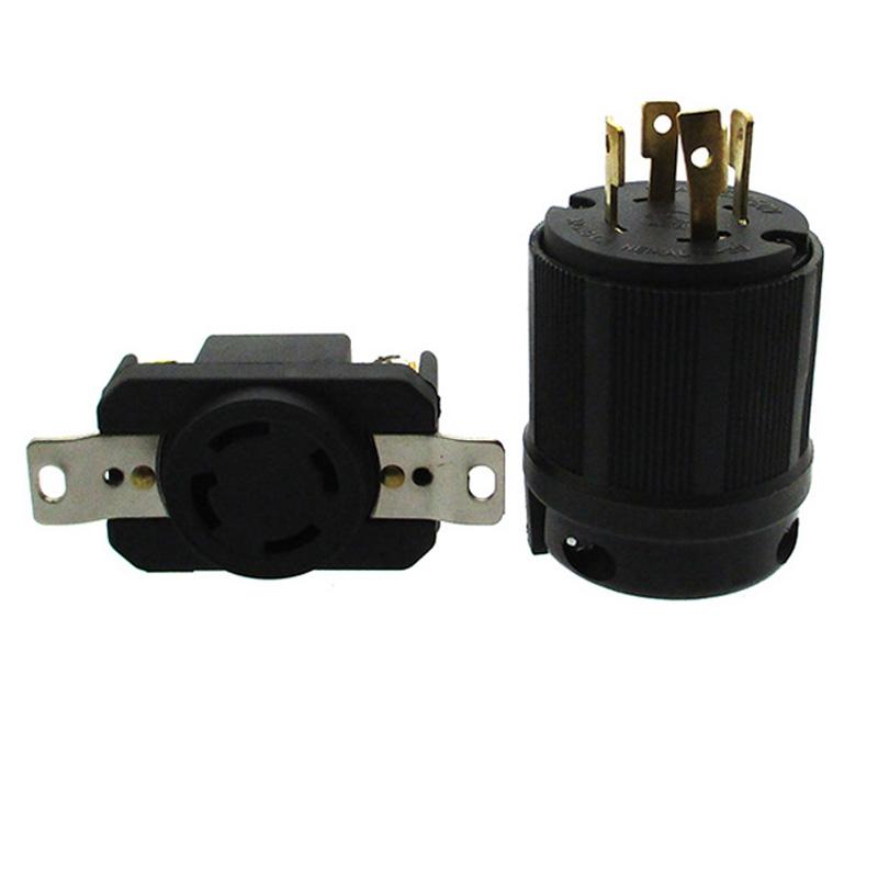 4 Prong Twist Lock Plug Socket 20AMP 125//250V NEMA L14-20R For Generator Parts