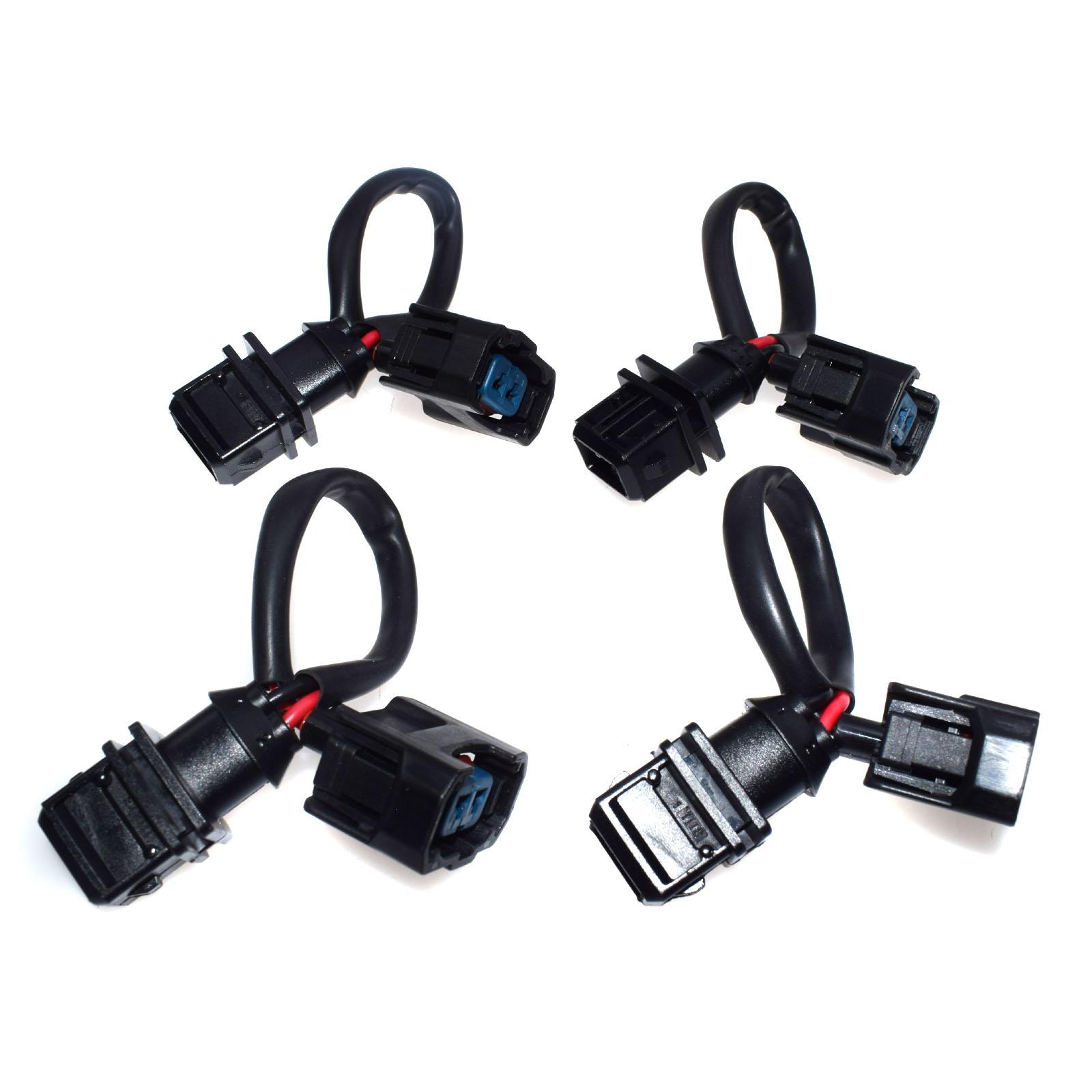 4pcs Obd1 To Obd2 Fuel Injector Conversion Jumper Harness Adapter Plug For Honda