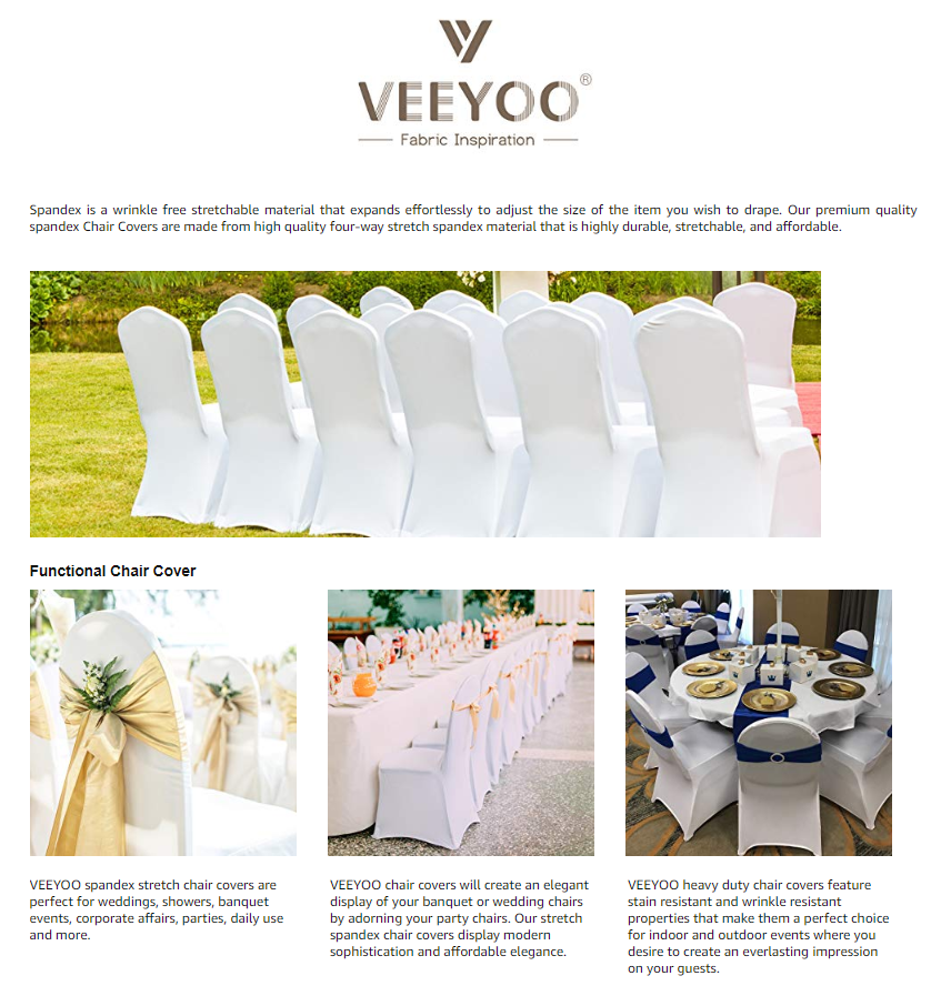 Astonishing Details About Veeyoo Stretch Chair Covers Spandex Folding Seat Cover For Wedding Party Banquet Squirreltailoven Fun Painted Chair Ideas Images Squirreltailovenorg