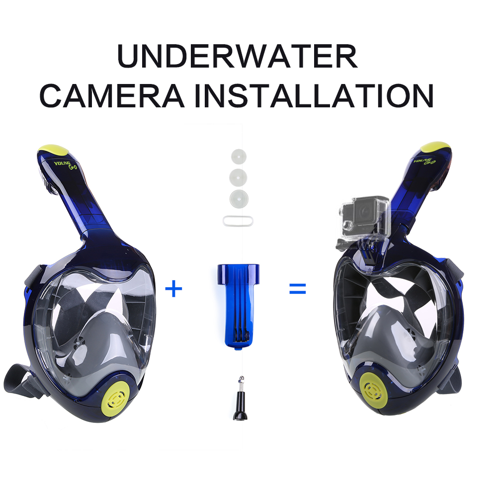 Easy Breath 180 176 Seaview Panoramic Full Face Snorkel Mask