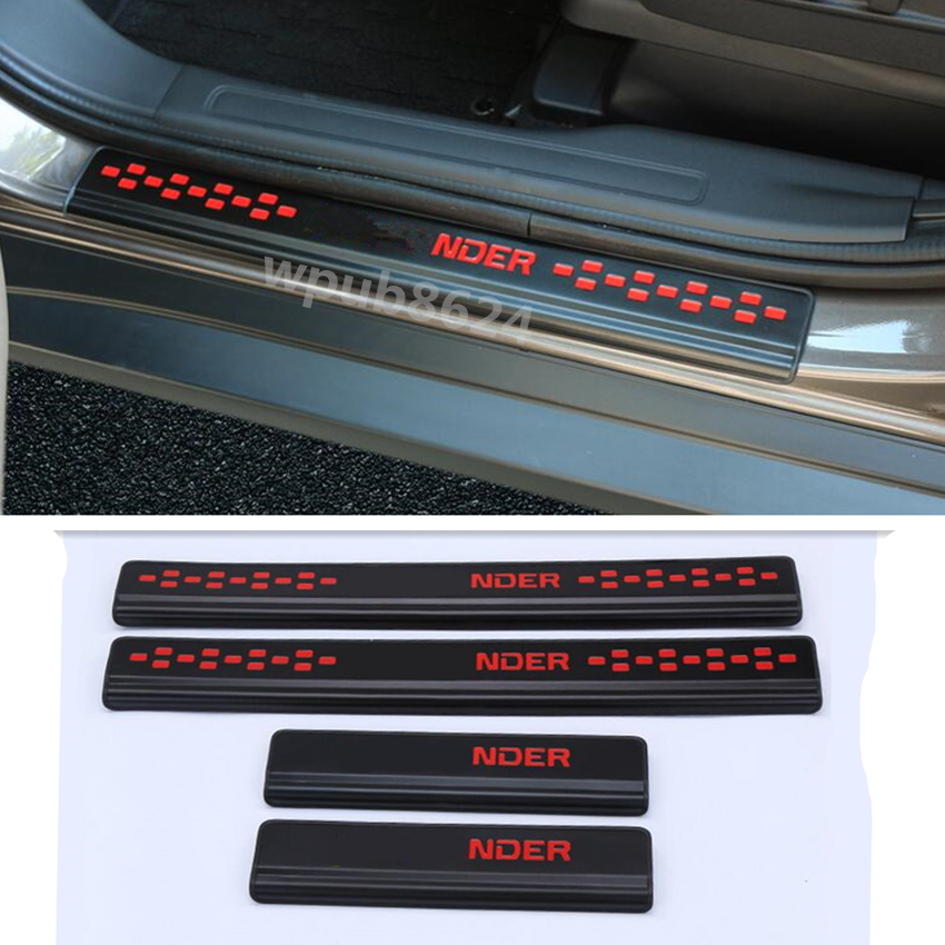 Stainless Door Sill Scuff Plate Protector For Mitsubishi Outlander 2016 2017