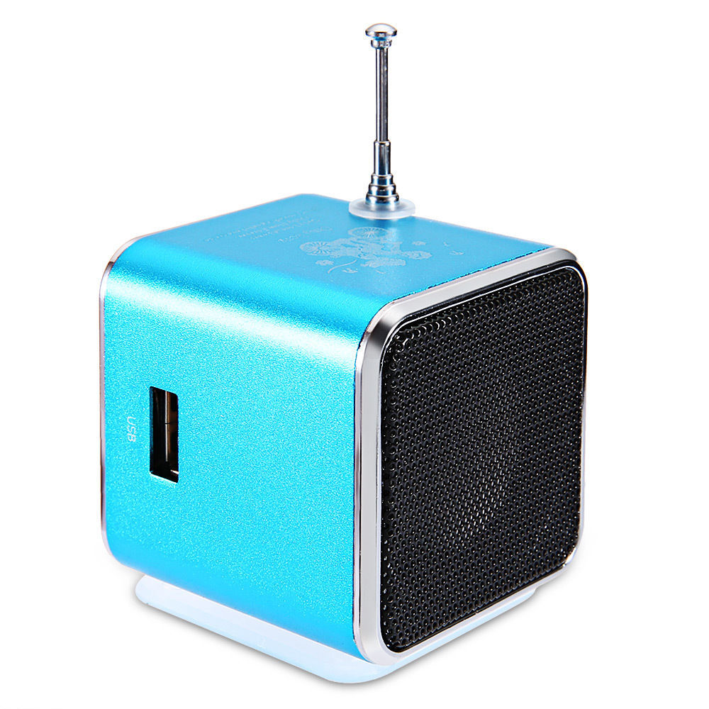 portable micro sd tf usb mini stereo speaker music player fm radio pc mp3 4 xg ebay. Black Bedroom Furniture Sets. Home Design Ideas