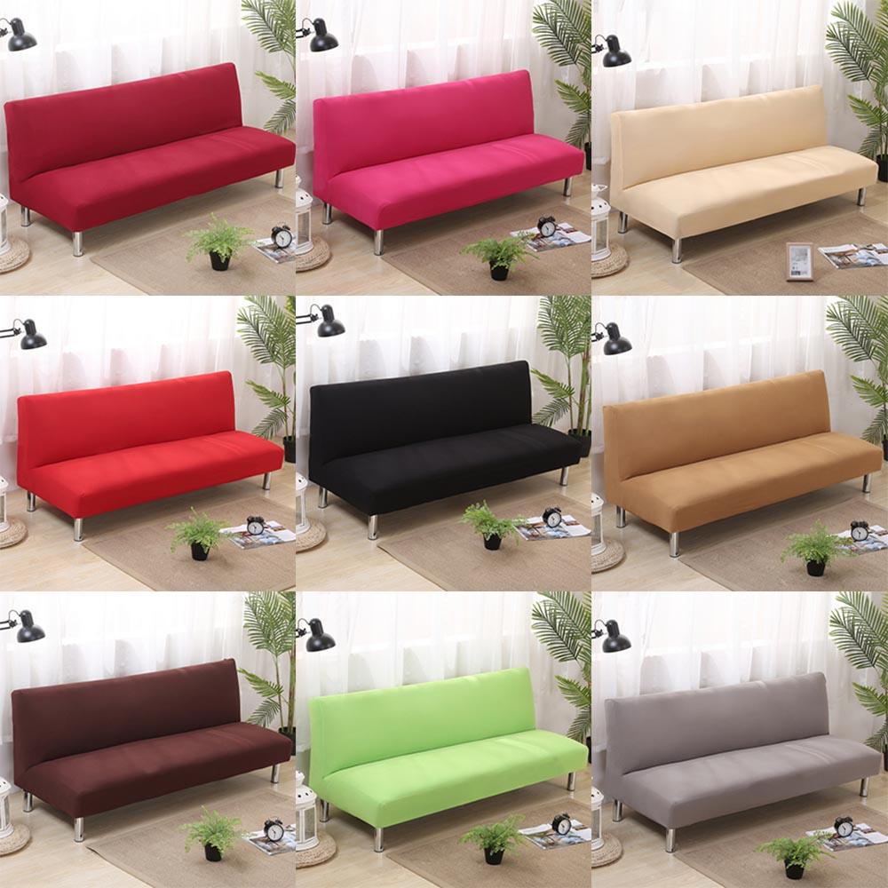 Folding Armless Sofa Bed Futon Cover