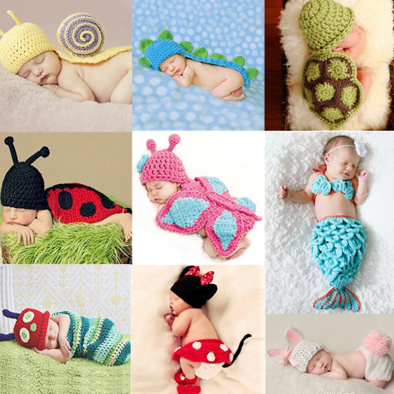 6b0a1e426fa You may also like. Baby Infant Newborn Animal Knit Costume Photography Prop Crochet  Hat Outfits
