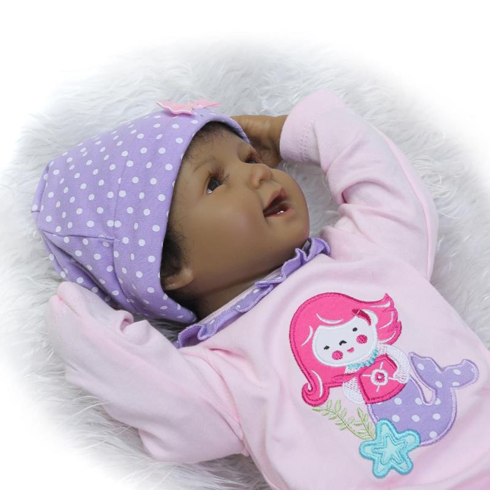 22 Quot Reborn Baby Doll Lifelike Black African American
