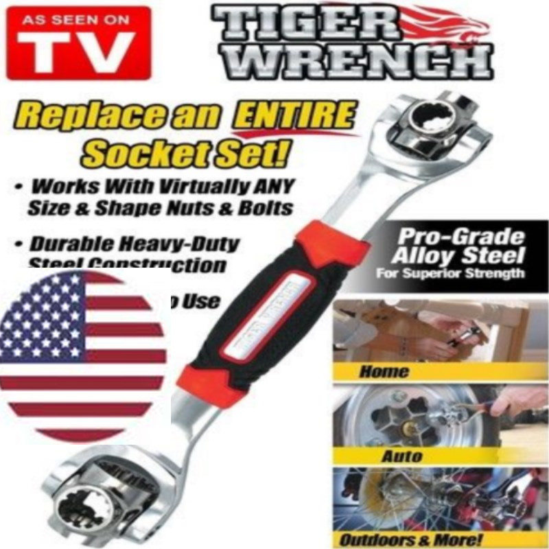 48 In 1 Wrench One Socket With Spline Works Bolts All Size Stand Tiger