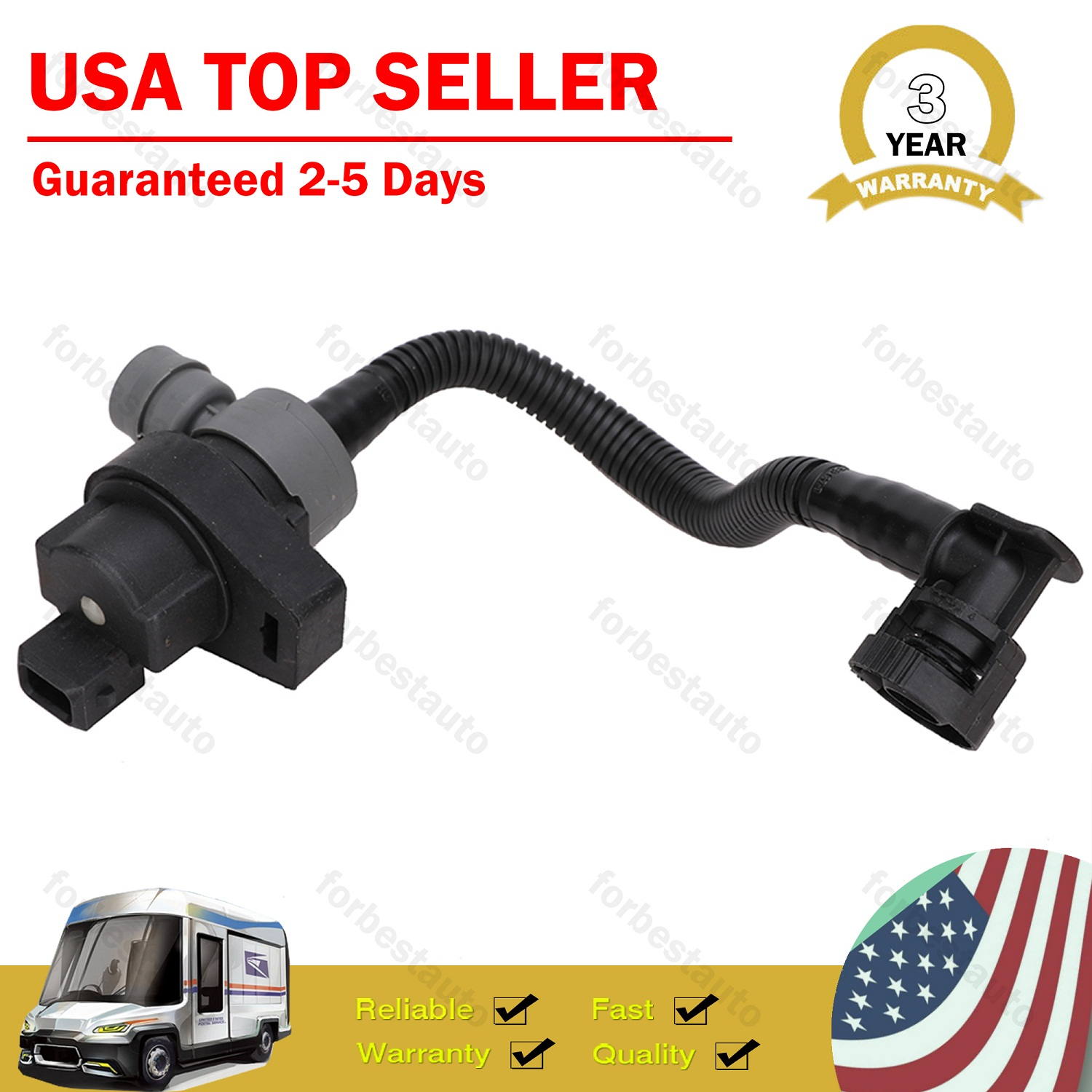 New Genuine Vapor Canister Purge Solenoid 13907618643 for BMW