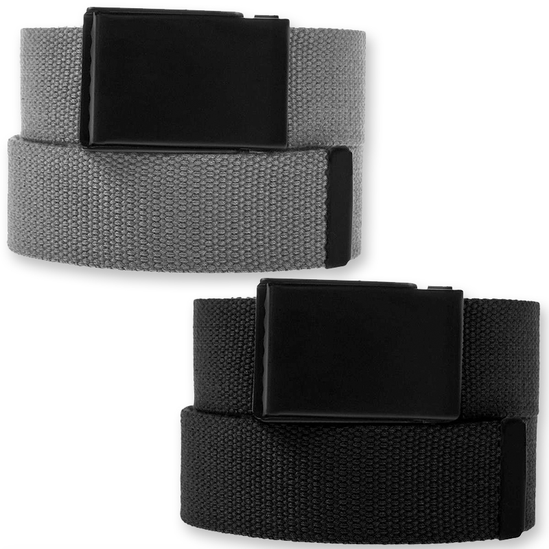 Men's Casual Canvas Web Belt Military Style Tactical Polyester Flip Top Buckle