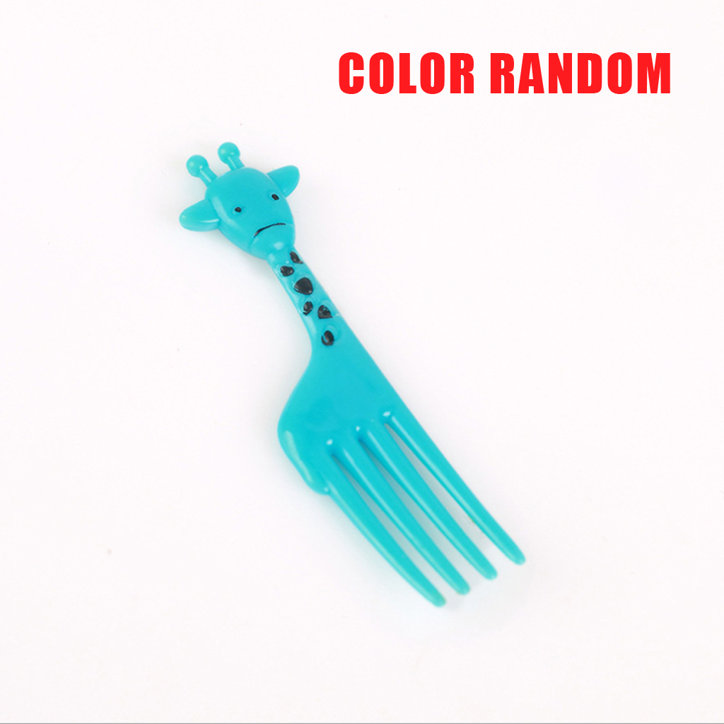 10pcs Bento Cute Animal Food Fruit Picks Forks Lunch Box Accessory Reusable