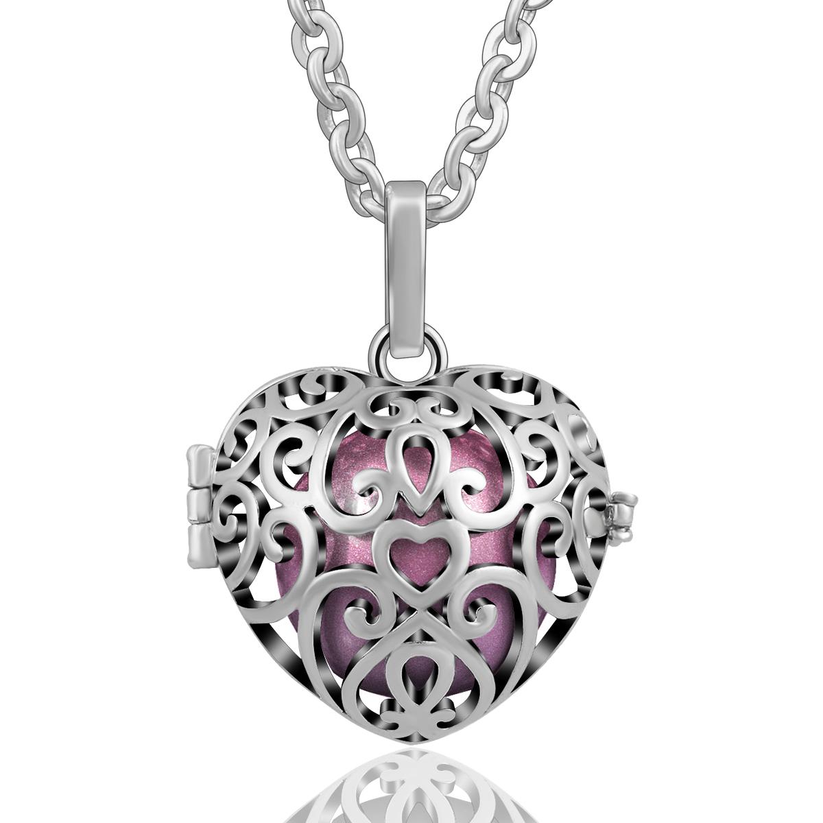 Harmony ball angel caller chain pendant necklace women baby chime harmony ball angel caller chain pendant necklace women mozeypictures Choice Image