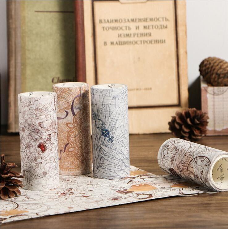 1 Roll 5M wide washi tape Flower//wing DIY decoration scrapbook masking tape 10cm