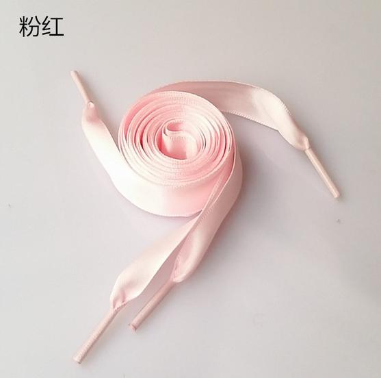 2CM Pink Flat Shoelaces Ribbon Satin