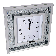 Floating crystal wall clock 12000 wall clocks floating crystal wall clock large bevelled mirror gl square 50x50 cm amipublicfo Choice Image