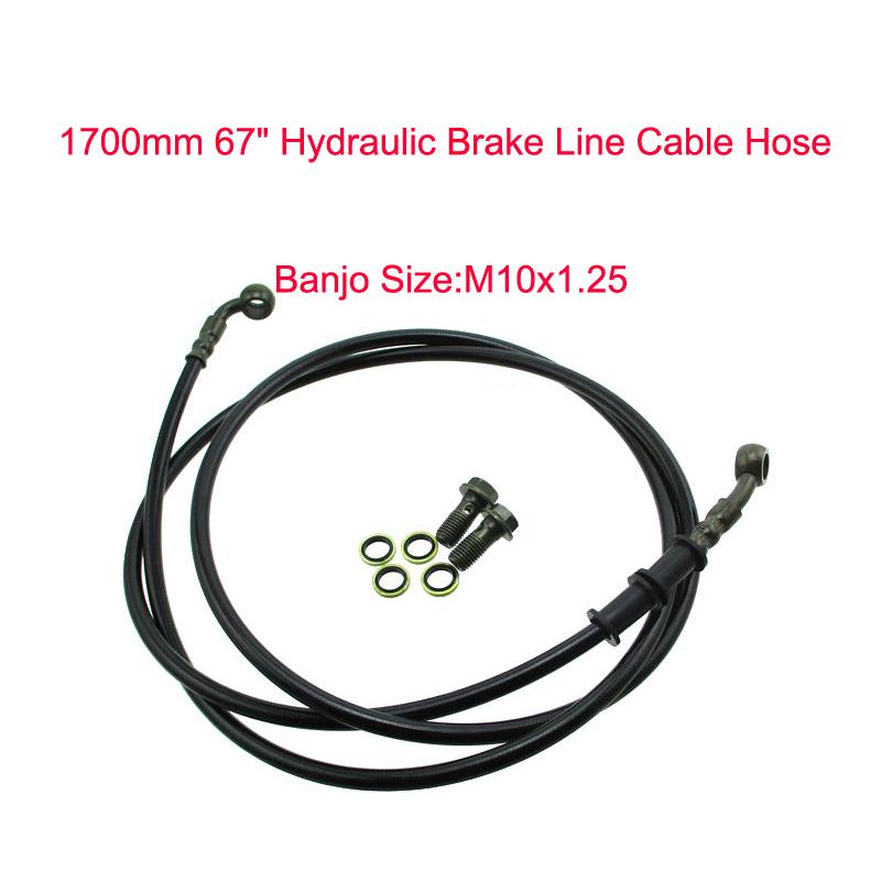 1M Hydraulic Brake Cable Line Hose Pit Dirt Bike ATV Quad 4 Wheeler Motorcycle