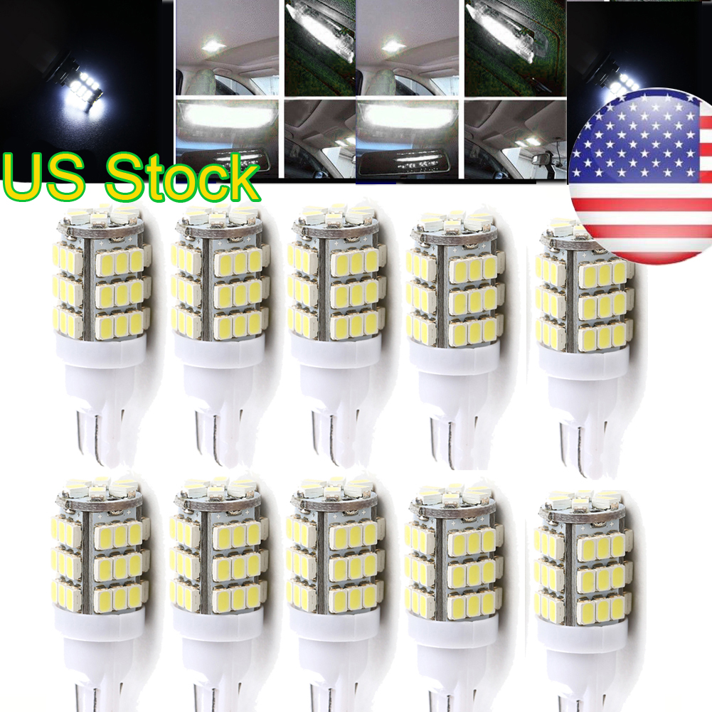 10PCS White T10 42SMD Car Backup Reverse LED Light Bulbs 921 912 906 168 192 W5W