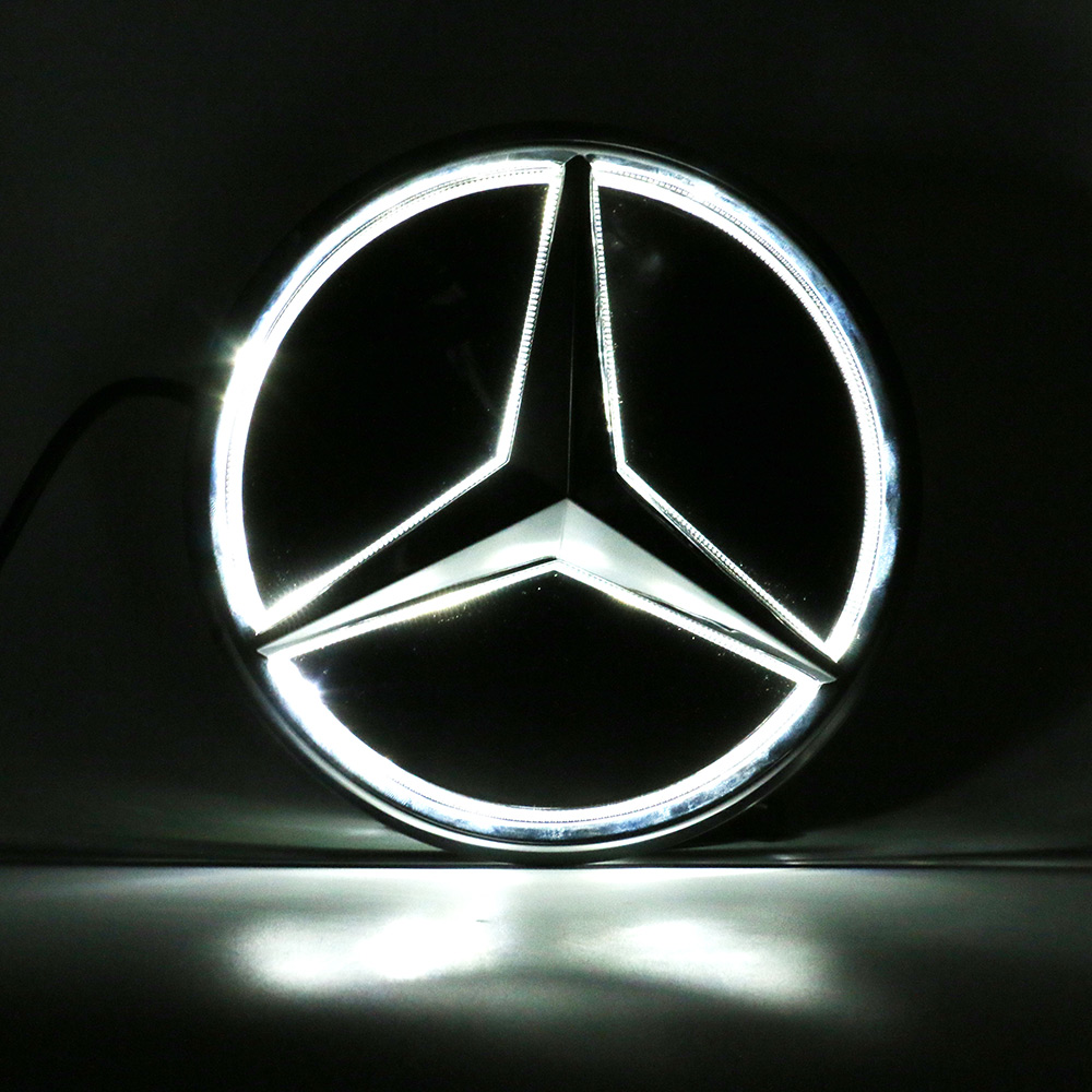 Illuminated car led grille logo emblem badge light for mercedes illuminated car led grille logo emblem badge light for mercedes benz glc gle gls biocorpaavc Image collections