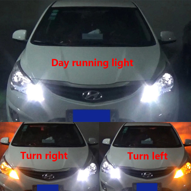 X BAS LED Car Turn Signal Light Bulb DRL Dual Color - Car signal light