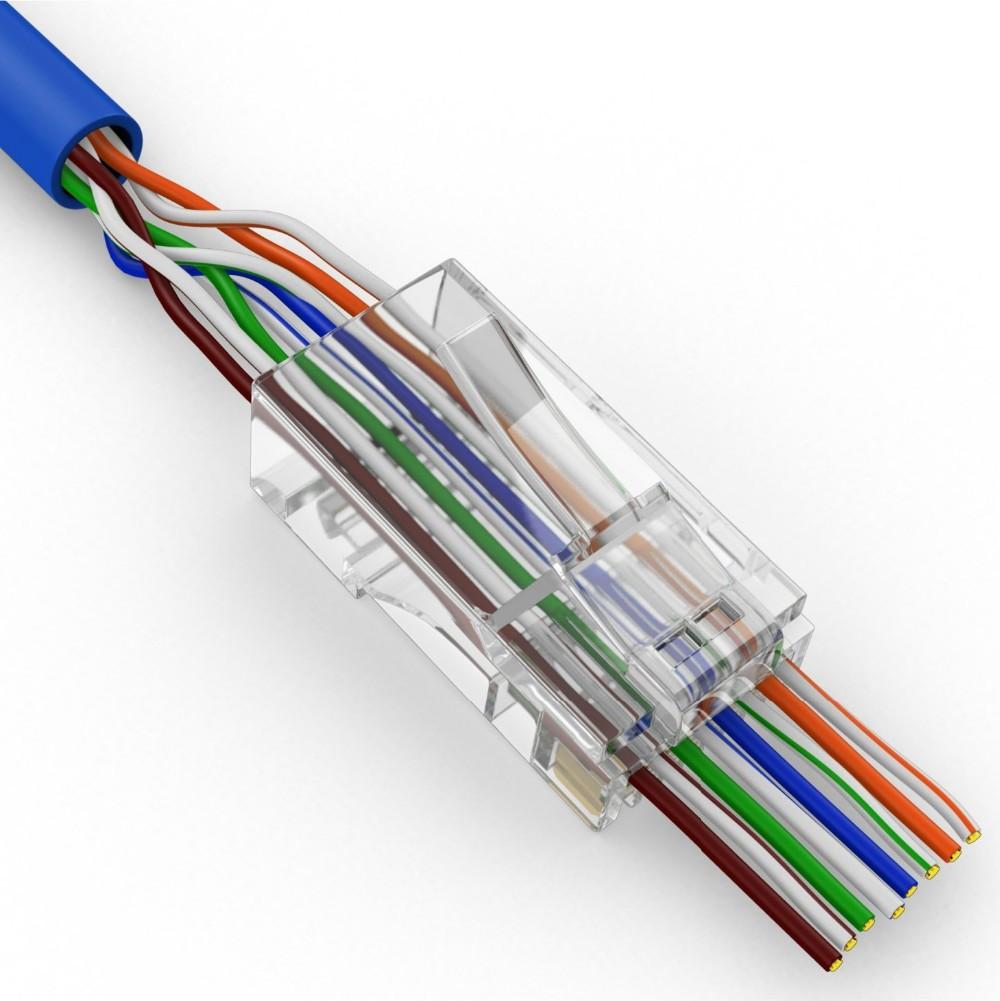 5 10 20 50 100 RJ45 8 Pin Ethernet Kabel Ende Anschlüsse Zündkerzen 8P8C