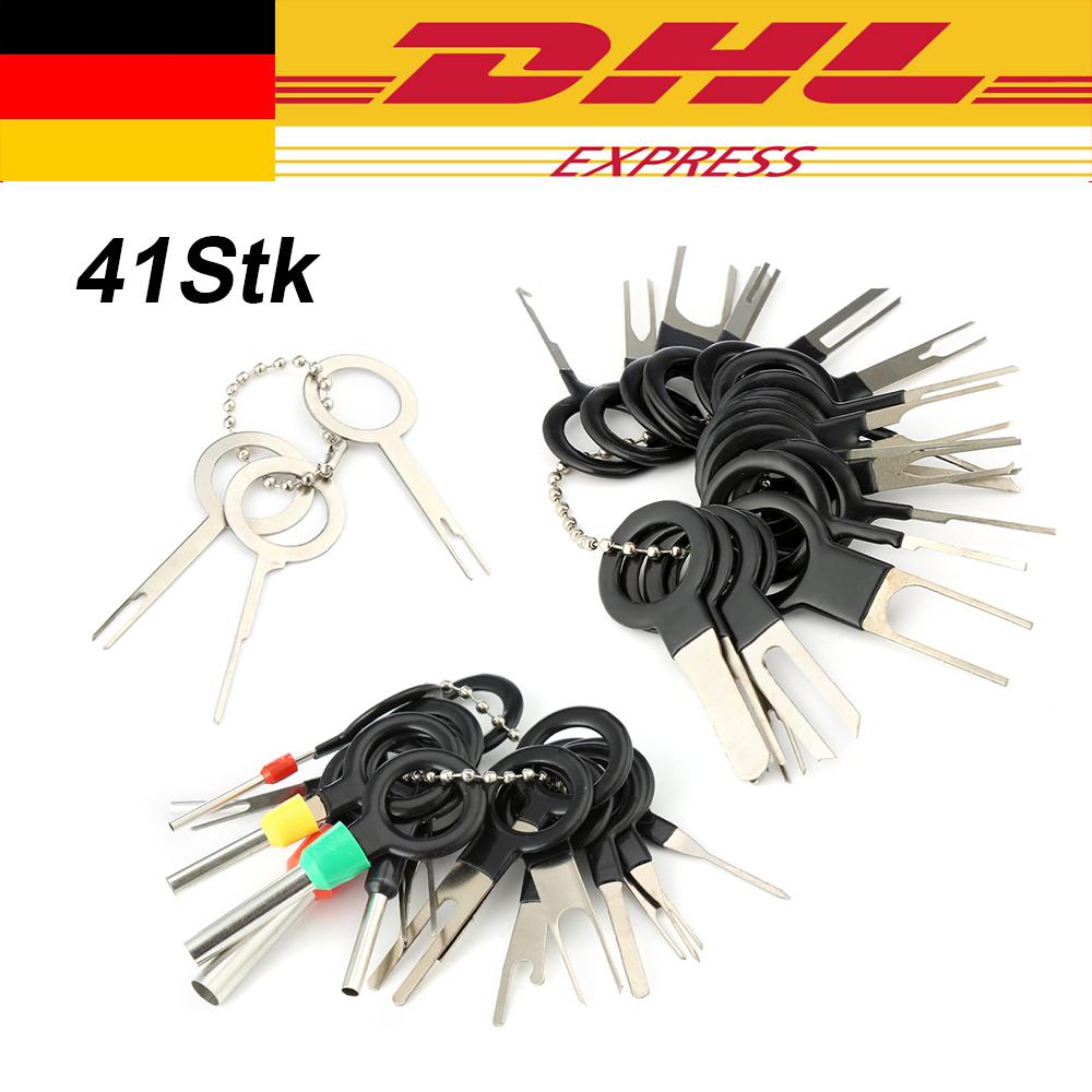 11tlg KFZ Stecker Auspinwerkzeug ISO Pin Lösewerkzeug Q3U9 N8R4