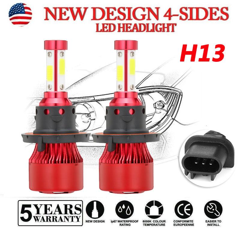 2x 2245W 336750LM CREE 4-Side LED H7 Headlight Hi//Lo Beam Bulb White 6000K