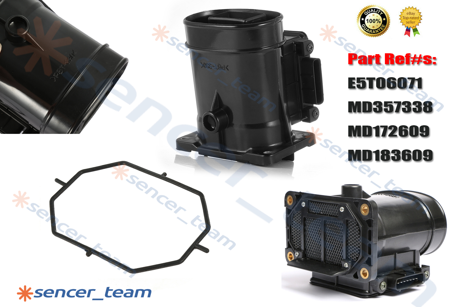 For Mitsubishi Pajero Montero L200 L400 90-14 MAF Mass Air Flow Meter MD183609