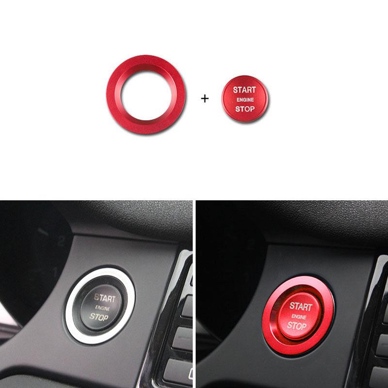 Engine Start Button Cover Trim Set For Land Rover Range Rover Sport 2015-2018