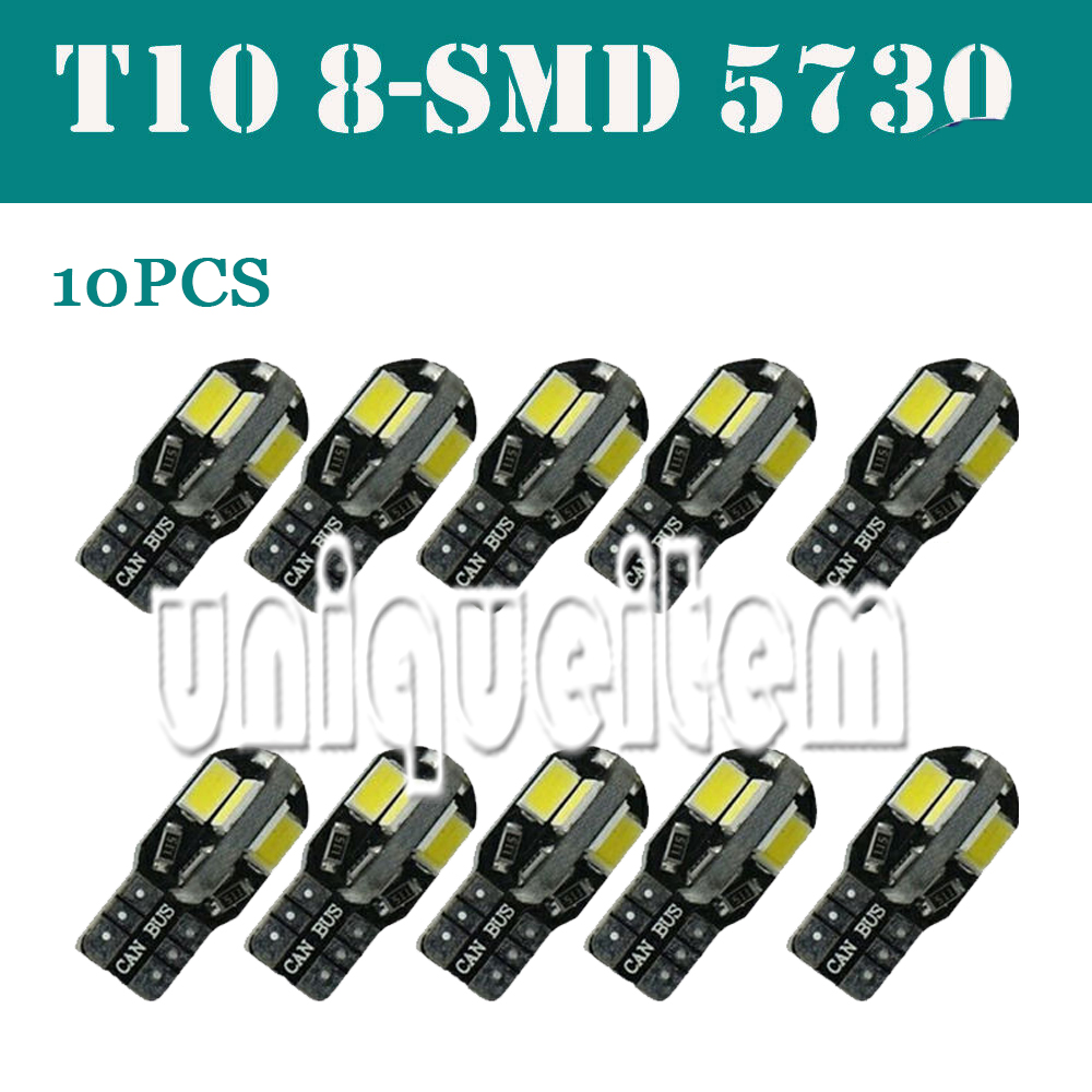 2 x White Led 8 SMD 5730 Side Light Bulbs T10//501 Canbus Error Free 98
