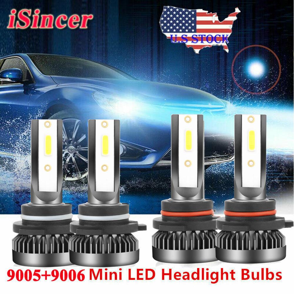Mini 9006+9005 LED Headlight Kit 6000K for Chevy Silverado1500 2500 HD 2001-2006
