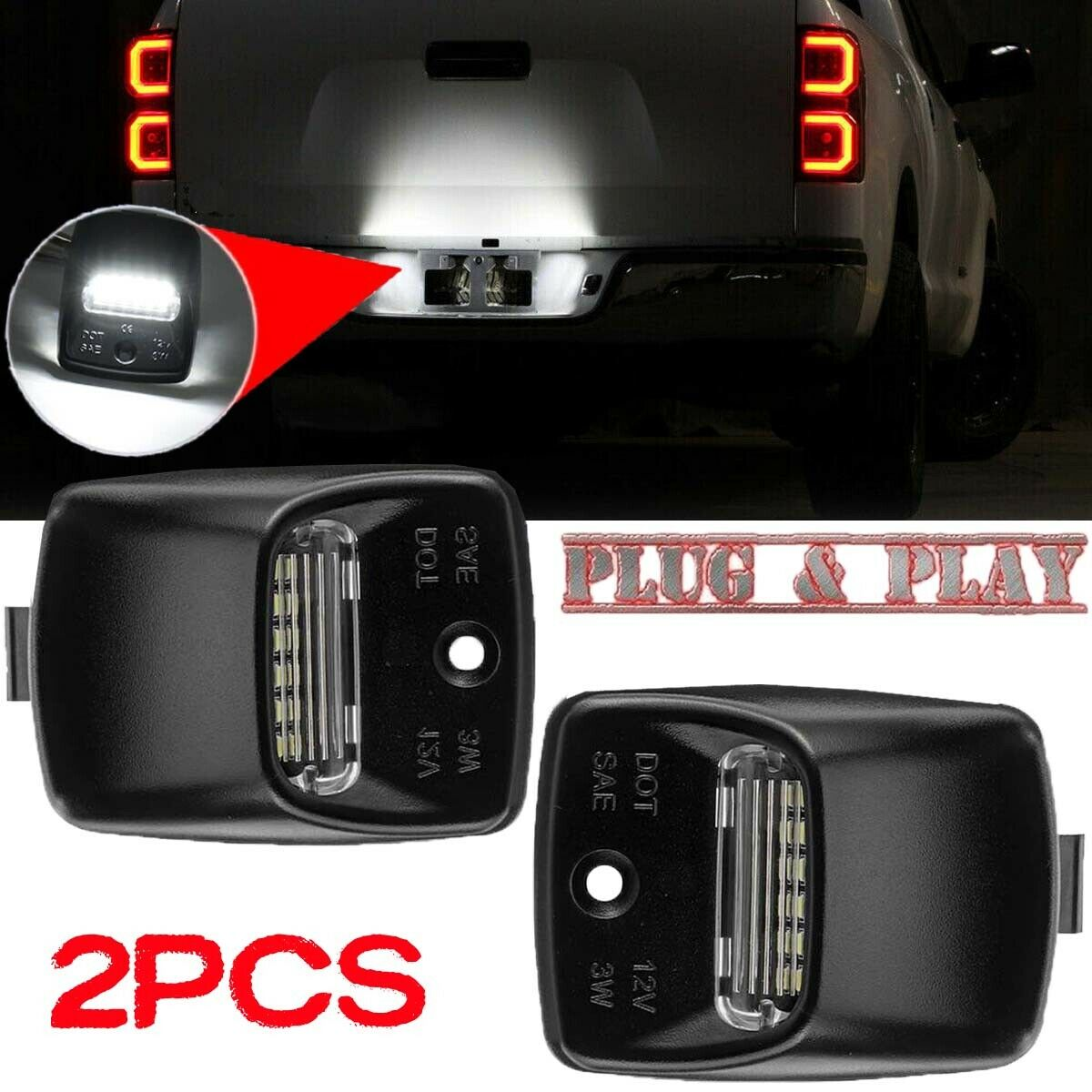 Genuine Toyota License Plate Lamp Lens and Cover 81691-0C010